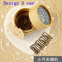 Wholesale Bookmarks card paper clip book line marker metal gift craft fancy lovely round box