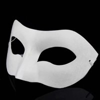 Paper backing boards - Drawing Board Solid White DIY Zorro Paper Mask Blank Match mask for Schools Graduation Celebration Novelty Halloween Party masquerade mask
