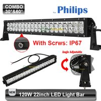 Cheap 120W 22 inch LED Light Bar For Philps 40*3w 4WD ATV AWD Golf Combo Spot Flood Offroad Driving Lamp DRL Auto Car Bumper 4x4 Truck