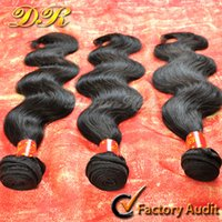 Wholesale Brazilian Peruvian Malaysian Virgin Human Hair Weft Weave Extensions A Dyeable Body Wave Unprocessed Wavy Natural Color