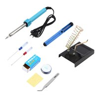 Wholesale Hot pc in Electric Solder Tool Kit Set With Iron Stand Desolder Pump Tweezer W Discount