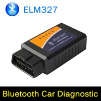 Wholesale 100 Original Professional Car Diagnostic Tool ELM327 OBD2 OBD II ELM V1 Bluetooth Car Interface Scanner Works On Android