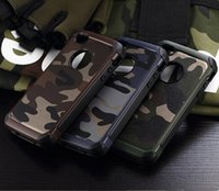 army armor - 2 in Army Camo Camouflage Pattern Back Cover Hard Plastic Soft TPU Armor Protective Case For iPhone S Plus S