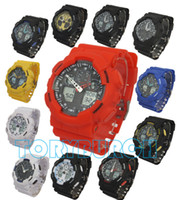 Wholesale 5pcs relogio G100 men s sports watches LED chronograph wristwatch military watch digital watch good gift for men boy dropship