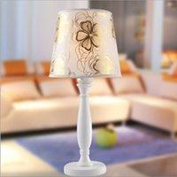 bedrooms direct furniture - Factory Direct Light Luxury Cloth Lamp European Garden Bedroom Bedside Lighting Table Lamp Lighting Furniture