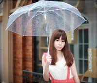 fishing see - Clear Transparent Umbrella See Through Fashion Star Long Handle Umbrellas Beach Wedding Graceful Colorful Transparent Hot