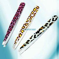 Wholesale 10Pcs Fashion Leopard Beauty Tool Eyebrow Tweezer Hair Removal Tool EQ0253