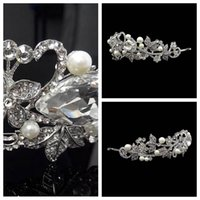 adorn artificial - Luxurious Bridal Hair Accesories Manual Artificial Fully Crystal Pearls Adorned Swan Headbands Headwear Jewelry Tiaras Handmade