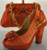 Wholesale silver party shoe with matching bag italian design