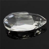 Wholesale 2015 pc mm Clear Crystal Glass Lamp Prisms Part Decoration Hanging Drop Pendant order lt no track