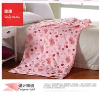 Wholesale quilts and blankets silk comforter china