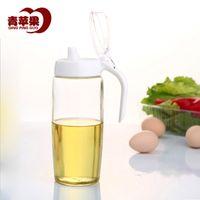 apple vinegar - Green Apple leakproof glass oiler soy sauce bottle Kitchen Queen health vinegar bottle ml