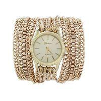 ¡Gran venta! Moda Verano Últimas Ensayo popular estilo hawaiano chispeante del cuarzo de la cadena Reloj de pulsera
