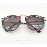Wholesale Sunglasses Women Brand Designer Oculos De Sol Feminino Vintage Brand Arrow Metal Round Circle Sun Glasses Eyewear Y60 MPJ159 M5