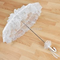 Wholesale 2015 Fashion Wedding Bridal Lace Parasols Sun Umbrella for Bride Wedding Party Decoration Parasols Beach Umbrella