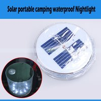 Wholesale Portable Inflatable Folding Solar Emergency LED Light Lantern Waterproof Outdoor Activities Camping Night Lights Lamps