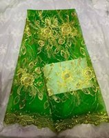 lace fabric wholesale - High Quality African Nigeria Lace Fabric African French Lace Fabric African Net Lace High Quality yards For Wedding green