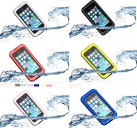 Cheap Waterproof cell phone case for Iphone 4 4S Iphone 5 5S TPU+PC 6 colors high quality cell phone Accessories Cheap for men women boy girls