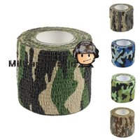 bicycle guns - Outdoor Military Camo Stretch Bandage Camping Hunting Camouflage Tape M for Gun Cloths Camera Flashlight Bicycle Freeship