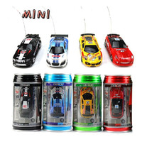 Wholesale Mini Racer Remote Control Car Coke Can Mini RC Micro Racing Car Free DHL