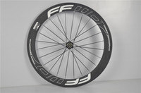 Wholesale Super Cheap Chinese Carbon Wheels mm mm mm mm Road Bike Wheels White Decals FFDW Carbon Tubular Clincher with Hub Campagnolo