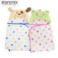 bathrobe for toddlers - Kids Hooded Bath Towel For Toddlers Velour Coral Fleece Animal Mantle Cotton Cartoon Hoody Towels Cute Cloak Bathrobe Hoodie