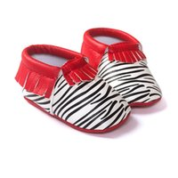 bebe designs - 30pairs Zebra Print Baby Girls Shoes Fringe Mix Designs Handmade Baby First Walkers Soft Newborn Shoe one pair Bebe Moccasin