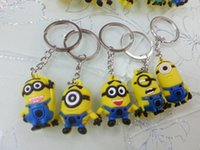 Wholesale 2015 Hot Sale D Despicable Me Minion Action Figure Keychain Keyring Key Ring Cute Mix order styles DHL freeShip lowest price