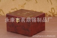 Wholesale Special for packaging manufacturers imitation mahogany wooden canopic jars Cup gold coin tin cans packaging