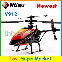 Cheap Newest WLtoys V912 Big RC Helicopter With Camera Remote Control Toys 4 Channel Gyro 2.4GHz Radio Control RTF Single Blade