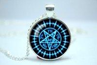 Pendant Necklaces american butler - 10pcs Sebastian Michaelis Black Butler Contract seal emblem symbol Inspired glass cabochon dome pendant