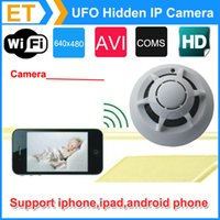 wireless spy hidden cameras - Spy Smoke Detector UFO P WiFi Wireless IP Hidden Camera Cam DVR Video Recorder P2P for iPhone ipad Android phone
