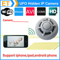 wireless spy hidden cameras - Spy Smoke Detector UFO WiFi Wireless IP Hidden Camera Cam DVR Video Recorder P2P for iPhone ipad Android phone
