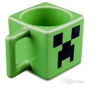 Wholesale Minecraft Creeper JJ coffee cup green water tumblerful retail box EMS