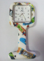 nurse gifts - Factory price hot Colorful Prints Silicone Nurse Pocket Watch Doctor Fob Quartz Watch Kids Gift Watches Fashion Patterns