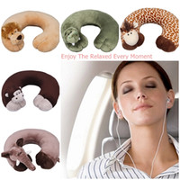 Wholesale Novelty U shape Neck Protecting Soft Pillow Cartoon Animal U Shape Pillow Outdoor Travel Rest Car Office Plane Pad Relax Pillow ZYP