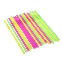 Wholesale 20pcs set cm Colorful Drinking Straws for Milk Tea Milkshake Party Event Supplies