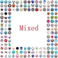 Wholesale Hot Selling Pryme DIY Jewelry Mixed color charm Alloy Noosa Chunks mm Snap Button Jewelry Snap Jewelry Accessories