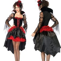 Wholesale 2014 New Halloween Costumes Fancy Dress Devil Vampire Queen Witch Womens Sexy Cosplay Theme Costumes