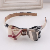 bay leather - European and American fashion hair jewelry women hair bands plaid headwear made bay hand headbands