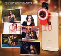 Wholesale 300PCS HHA343 LED Selfie Night Using Light Multi Fuction Camera Flash Light Super Mini External Flash Light Fisheye Lens for iphone s