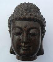 Disposable antique curio - curio Antique Tibet Gautam buddha sculpture fragrant wood Classical sculpture Ping amulets
