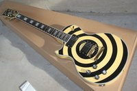 Wholesale HOT SELL New Guitar black yellow style Electric Guitar High Quality Left hand Electric Gguitar