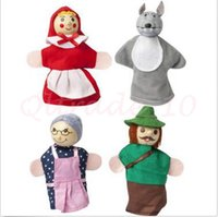 Wholesale 10000pcs CCA2891 High Quality set Little Red Riding Hood Finger Puppets Set Ideal For Story Telling Sack Baby Educational Finger Toys