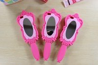 Wholesale 2014 Girl Beautiful Doll Magic Cosmetic Mirror Barbie Pink Soft Silicone GEL Case for iPhone