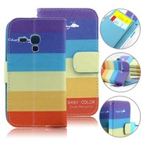 Cheap For samusng galaxy s3 mini Case, Flip Leather Case For samsung galaxy s3 mini i8190 wallet case with card slots 50pcs free shipping