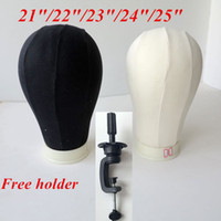 mannequin head - Canvas Block Mannequin Head Cork Surface Needle in Canvas Head for Wig Dispaly Black and beige hair extensions tools