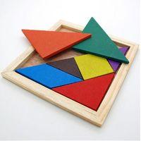 venda por atacado toys wooden toys-Crianças Mental Desenvolvimento Tangram madeira quebra-cabeça brinquedos educativos para crianças quebra-cabeça de madeira brinquedos educativos frete grátis