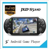 Wholesale 3PCS Iot Brand JXD S5110 game player quot Android4 OTG HDMI Capacitive Touch Screen Game Console TV Output G