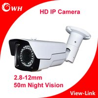 Wholesale CWH W6201C20L9V P MP mm Vari lens IP Camera with Bracket and white color and M IR Distance security outdoor IP Camera
